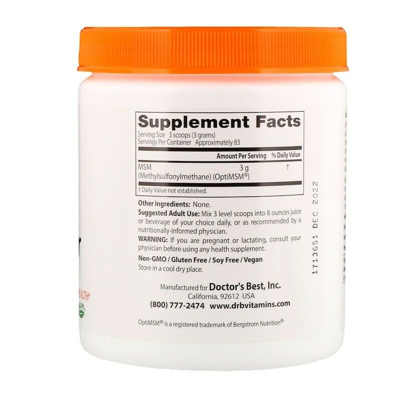 Science-Based Nutrition MSM Powder-83Serv.-250G