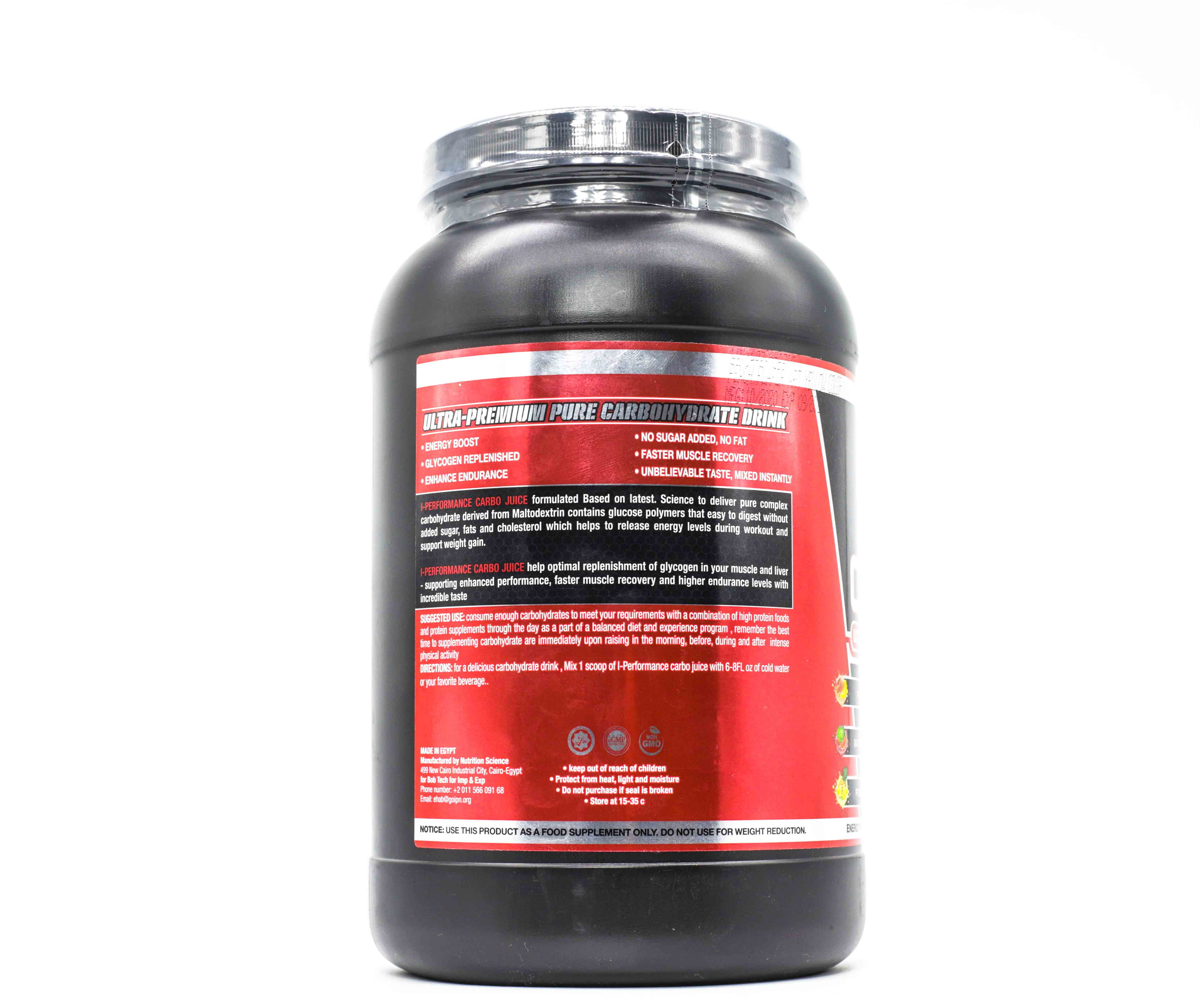 I-Performance Juice Carbo-48Serv.-1512G.-Peach