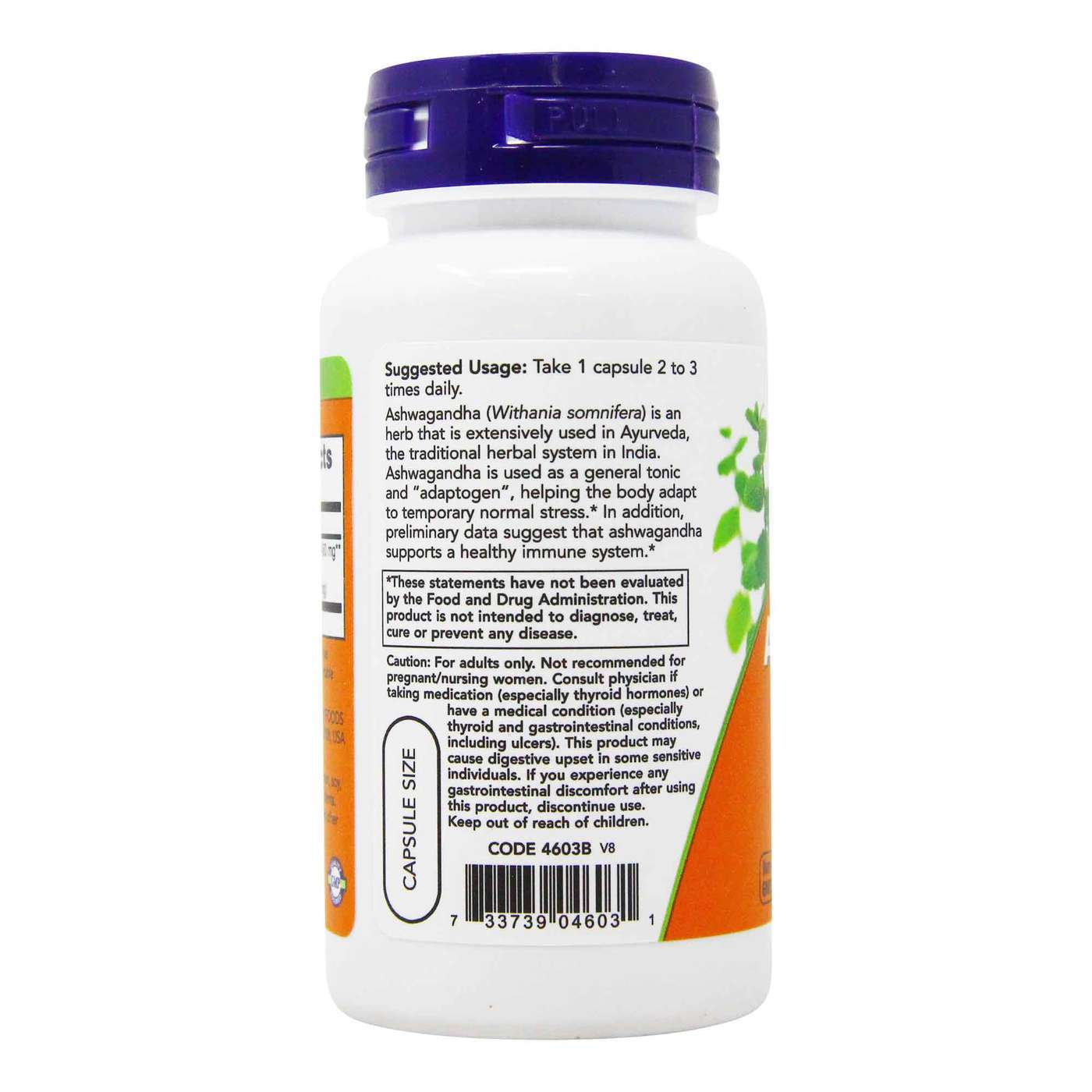 Now Foods Standardized Extract Ashwagandha 450mg-90Serv.-90Veg Caps.