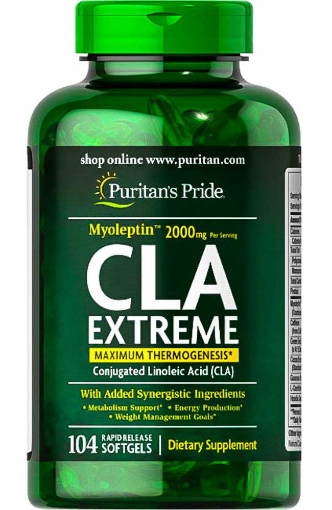 [025077179480] Puritan's Pride CLA Extreme 2000MG-52Serv.-104Soft Gels