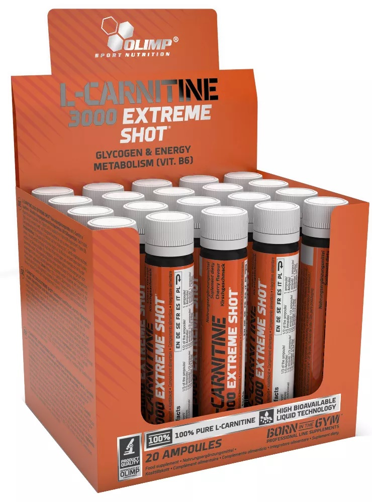 [5901330024504] Olimp Sport Nutrition L-Carnitine 3000MG Extreme Shot ampoule-1Serv-25Ml