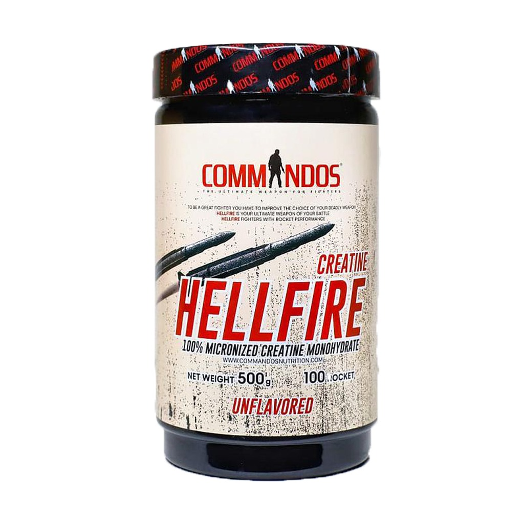 [6224009878048] Commandos Creatine Hell Fire Micronized 100%-100Serv.-500G