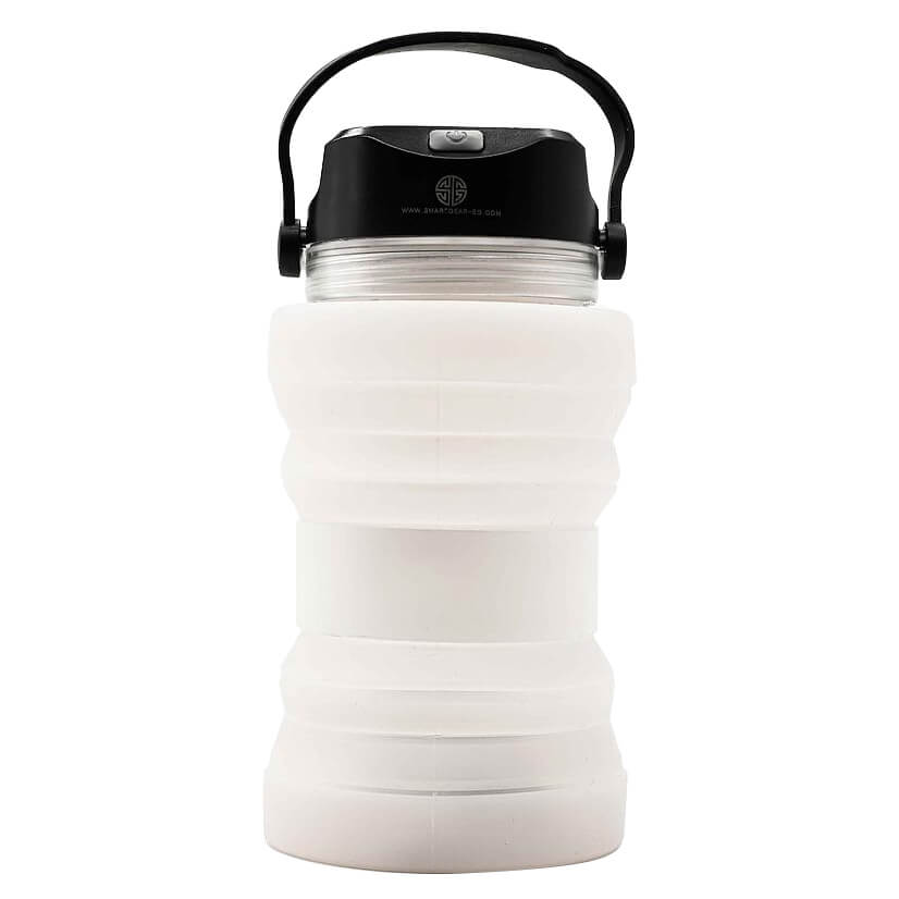 [0806809682153] Silicone Bottle Solar Lantern-650ML