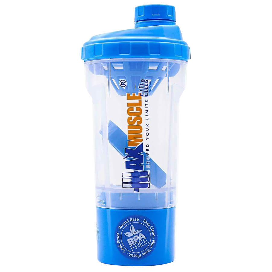 [6224009096008] Max Muscle Smart Shaker-550ML-Clear Blue