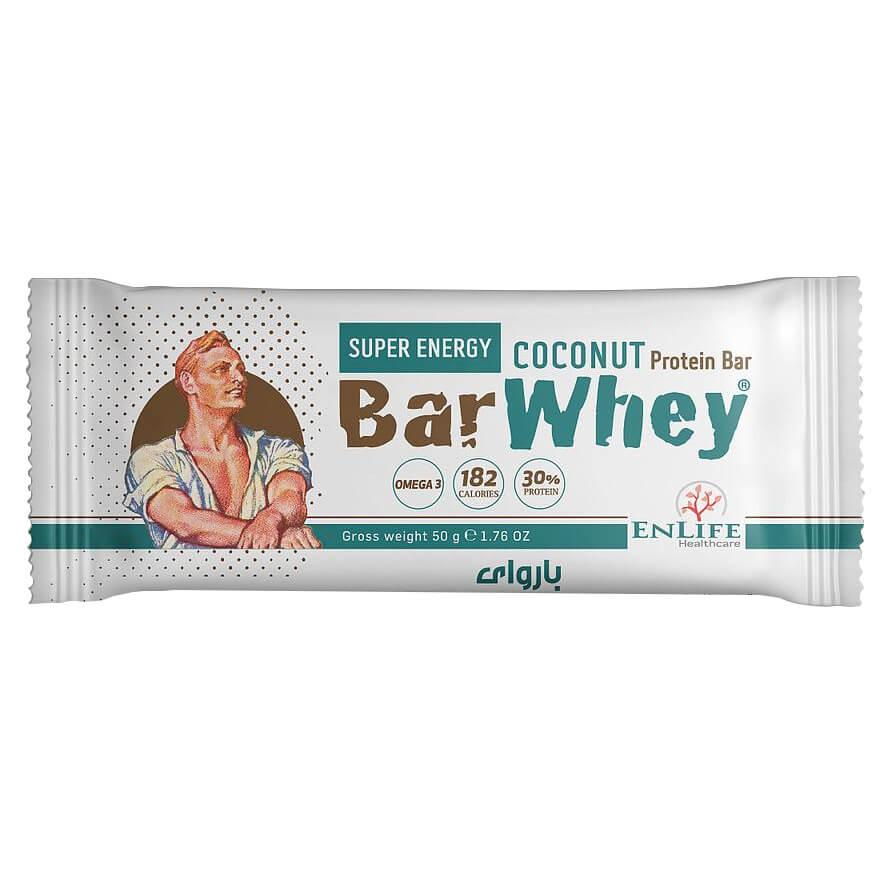 [6224010051065] ENLIFE Bar Whey Super Energy-50G-Coconut