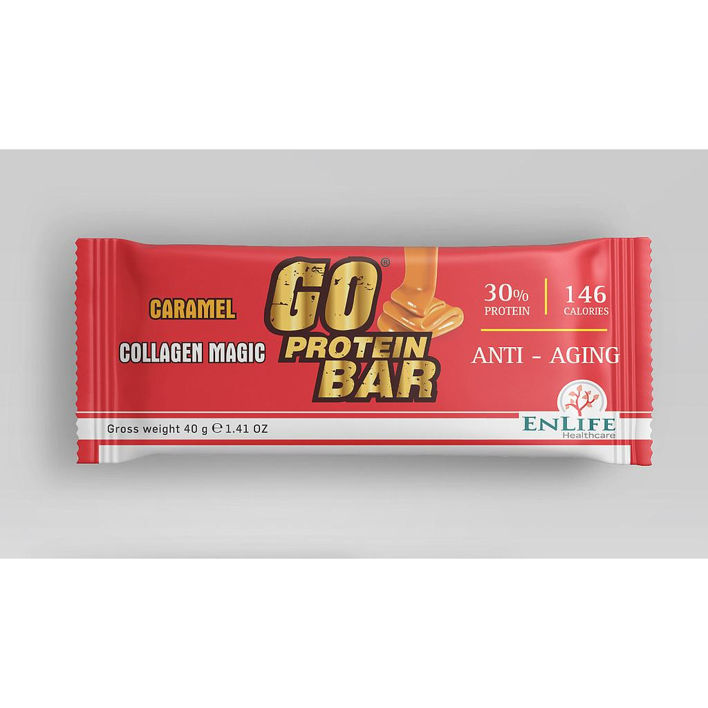 [6224010051034] ENLIFE Go Protein Bar Collagen Magic-40G-Caramel