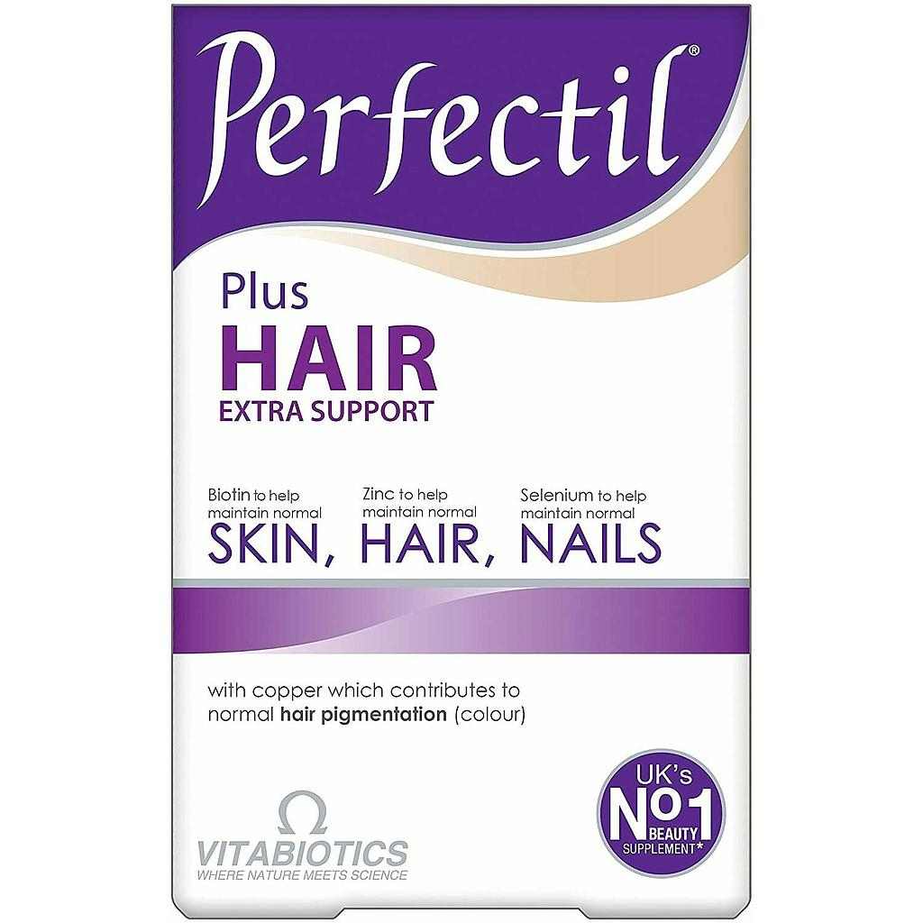 [5021265245741] Vitabiotics Perfectil Plus Hair Extra Support-30Serv.-60Tabs.