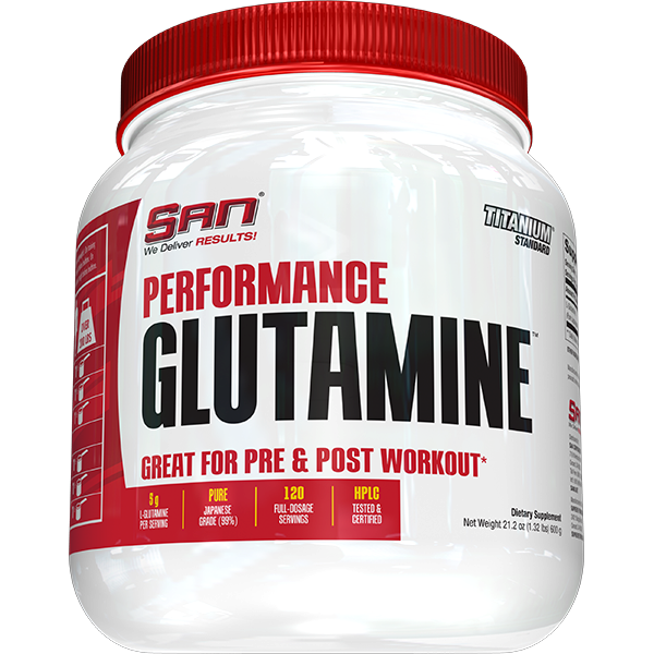 [672898411802] San Performance Glutamine-120Serv.-600G