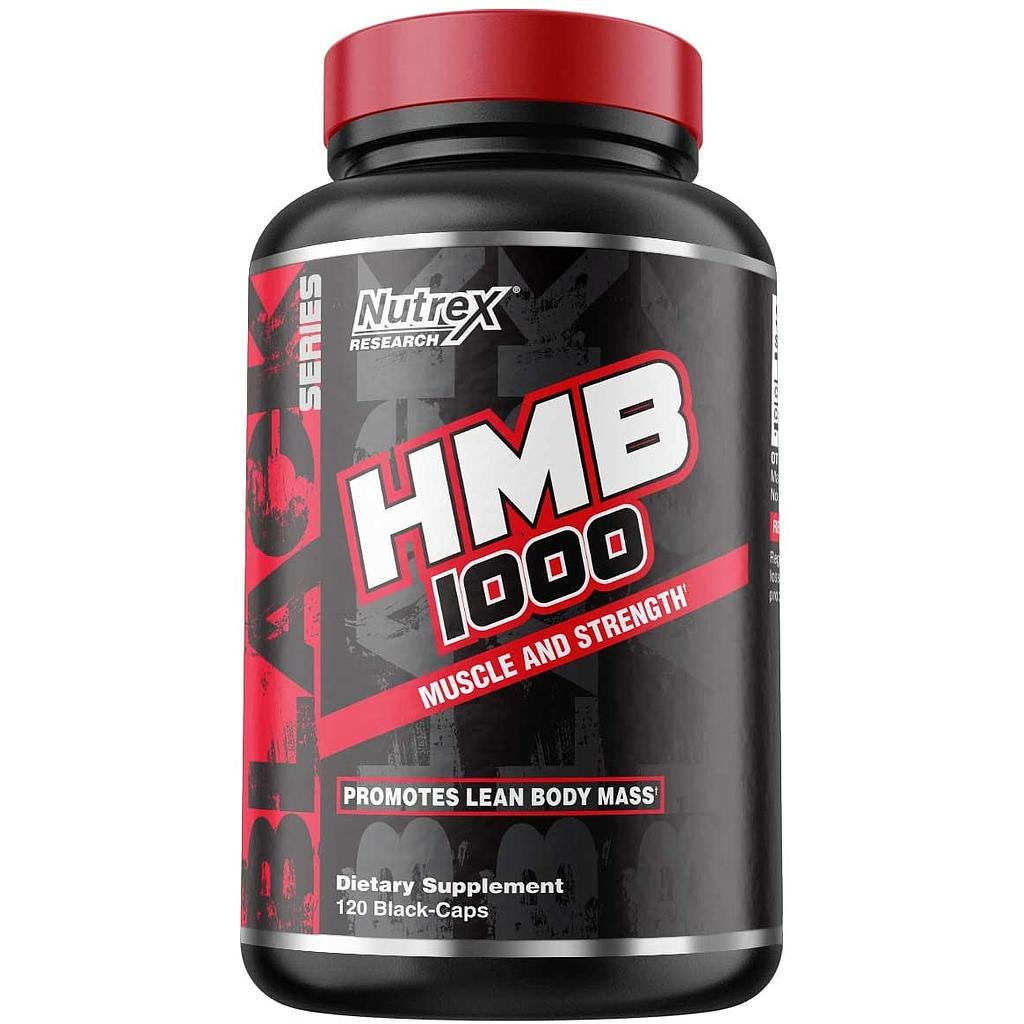 [850005755371] Nutrex Research HMB 1000 Muscle And Strenght-60Serv.-120Black Caps.