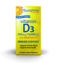 [035046092047] Windmill Sunshine In A Tablet Maximum Strenght Vitamin D3 250mcg (10,000i.u) With Vitamin C-60Serv.-60Tabs.