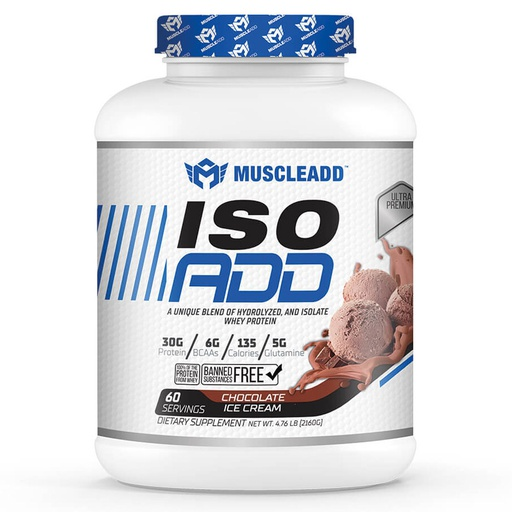 [6224009363520] Muscle Add Iso Add-60Serv.-2160G.-Chocolate Ice Cream